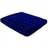 North Gear Queen Flocked Air Bed Inflatable Festival Mattress Without Pump