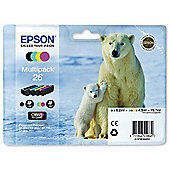 Epson 26 (polar bear C13T26164010) printer ink cartridge - Multipack