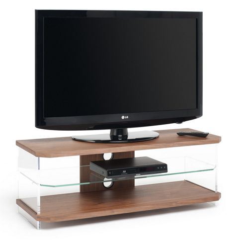 Techlink Air Acrylic and Glass 55 TV Stand - Walnut