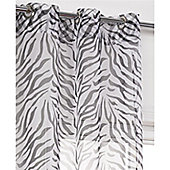 Hamilton McBride Zebra Ring Top Panel Voile - Black