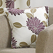 Morocco Plum Self Piped Cushion Cover - 17x17 Inches