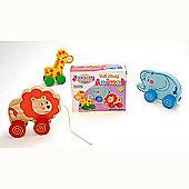 Traditional wood 'n' fun Nursery Toys Pull Along Animal 24m+ Lion