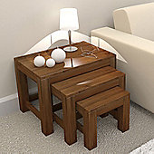 Baumhaus CWC08A Mayan Walnut Nest of 3 Tables
