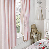 Best Friends, Girls Beautiful Bear Pink Spotty Curtains - 54s