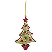 Glitter Christmas Tree With Stars Christmas Decoration