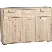 ValuFurniture Cambourne 3 Door 3 Drawer Sideboard - Sonoma Oak Effect