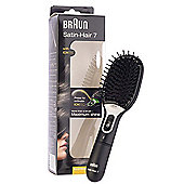 Braun SB1 Satin Hair 7 Anti Static Fizz Iontec Brush for Max Shine (Black)