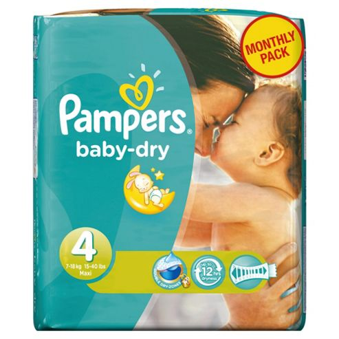 Pampers Baby Dry Size 4 Monthly Pack - 174 Nappies