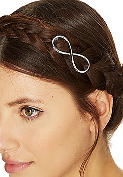 Pieces Metal Infinity Symbol Hairclip - Silver