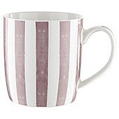 Tesco Pink Stripe Barrel Mug Single