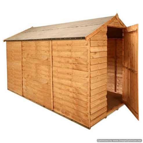 BillyOh 30 10 x 6 Windowless Overlap Apex Shed