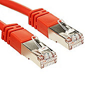Shielded Cat5e Moulded Patch Cable - Red