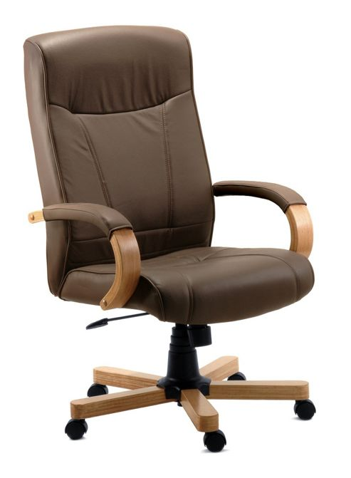 Modal Richmond Leather Executive Chair in Brown