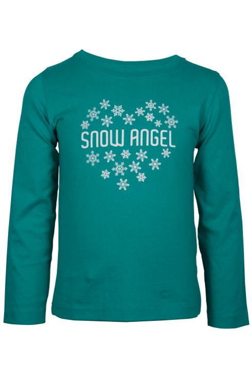 Snow Angel Girl's Long Sleeved Cotton Kids Jumper Top Tee