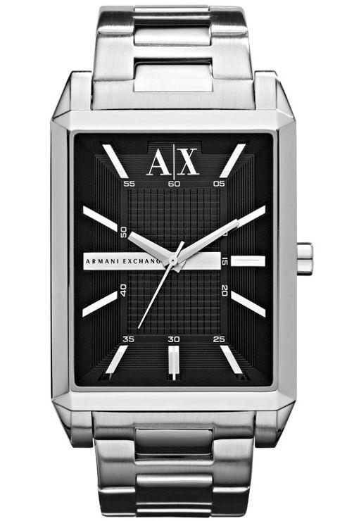 Armani Exchange Gents Silver Tone Bracelet Watch AX2110