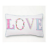 Catherine Lansfield Home Love Cushion (30x50cm) - Pastel