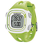 Garmin Forerunner 10 GPS Running Watch, Green and White