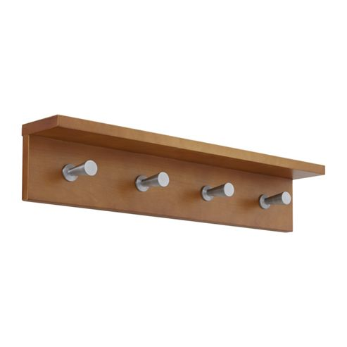 Safco Four Hook Contempo Wood Coat Rack