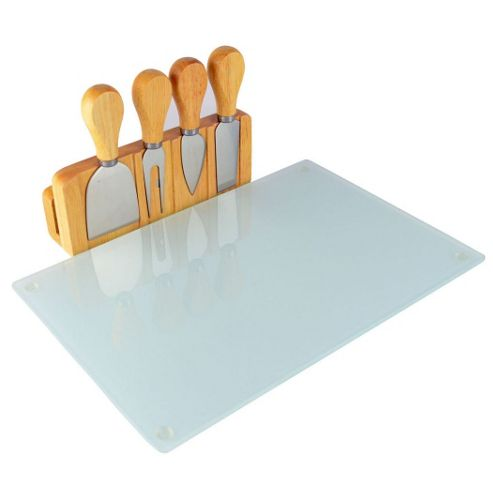 Buy Occasion Glass Magnetic Cheese Board With 4 Cheese Knives From Our Cheese Boards Range Tesco