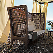 Varaschin Altea 2 Seater Sofa with High Back by Varaschin R and D - Dark Brown - Sun Cocco