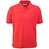 Proquip Mens Deluxe Cotton Pique Golf Polo Shirt - Red