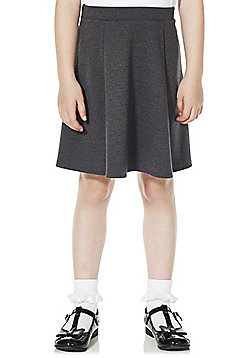 F&F School Girls Jersey Skirt - Dark grey