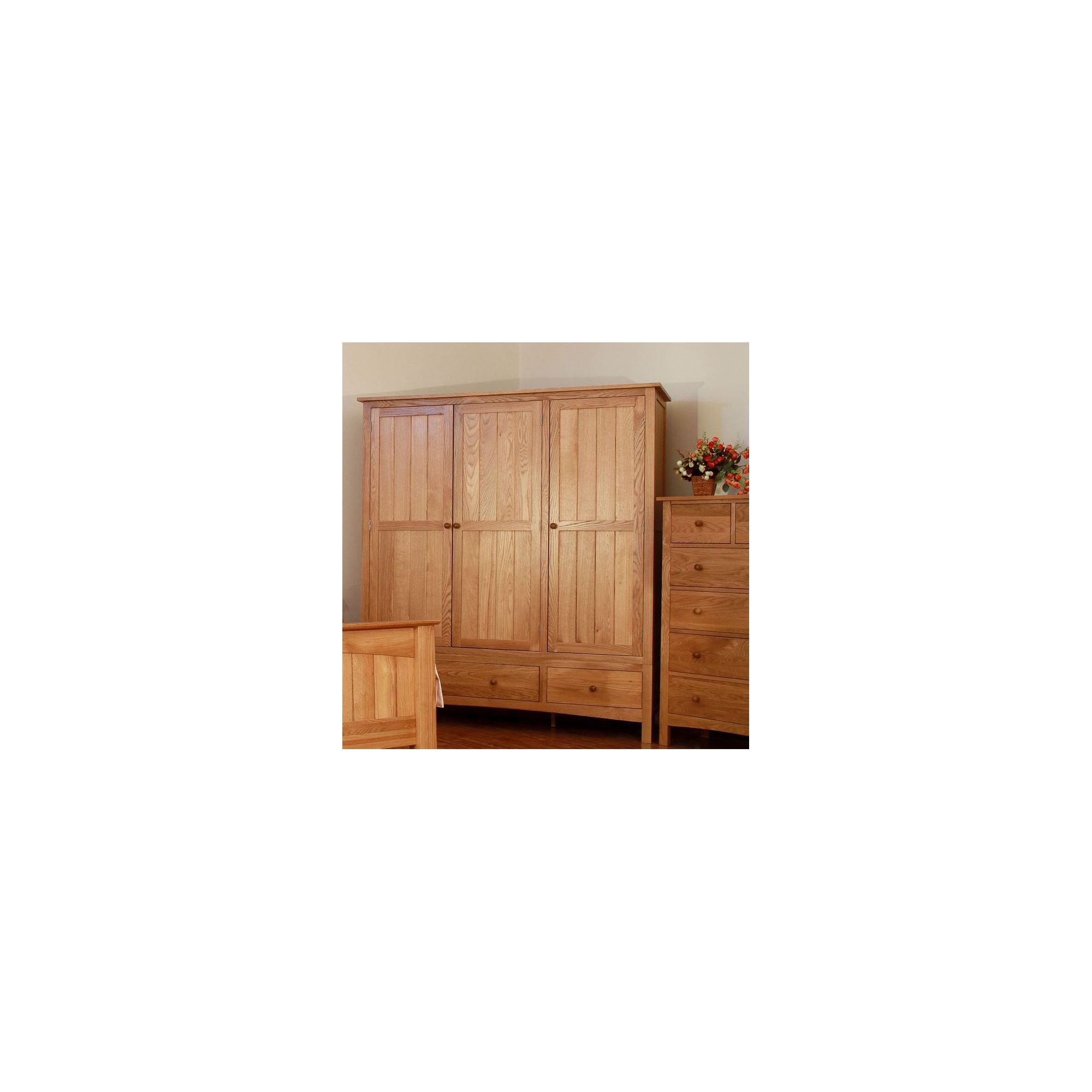 Elements Farmhouse Triple Wardrobe at Tesco Direct