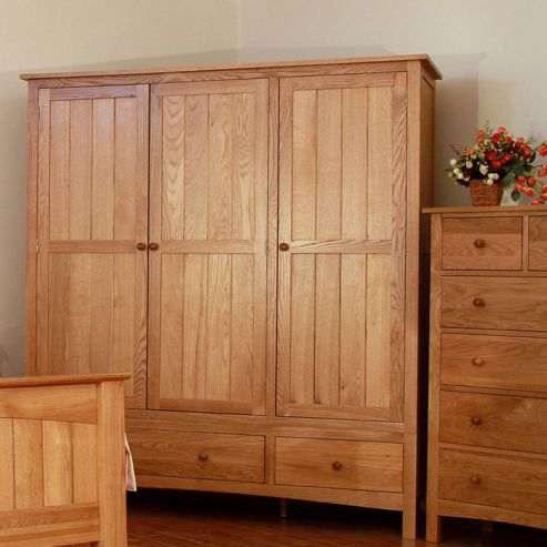 Elements Farmhouse Triple Wardrobe