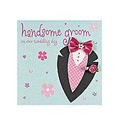 Fashionista Handsome Groom Wedding Card