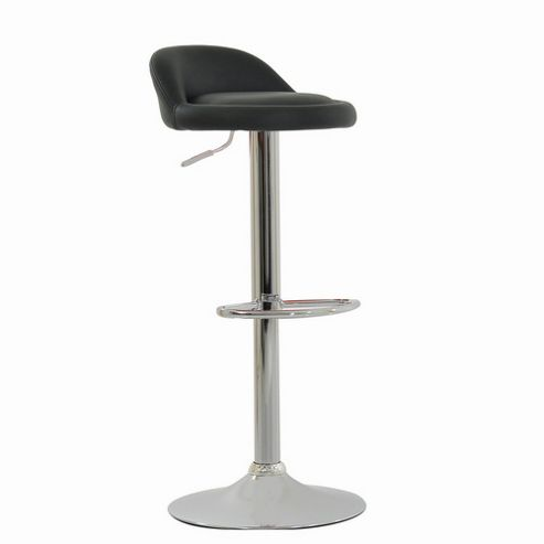 Tempo Black Faux Leather Bar Stool