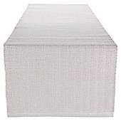 Tesco White & Silver Table Runner