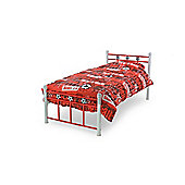 MetalBedsLtd Soccer Single Bed Frame - Red / White