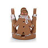Christmas Gingerbread Man Design Tealight Holder