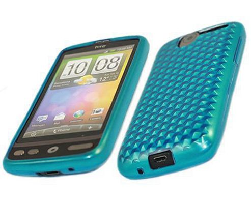 iTALKonline 17513 ProGel Diamond HEX Skin Case - HTC Desire - Solid Blue