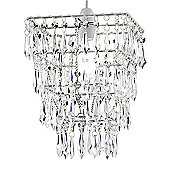 Four Tier Acrylic Crystal Ceiling Pendant Light Shade Chandelier