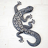 Decorative Metal Lizard Garden Wall Art For Garden & Home In A Bronze Finish