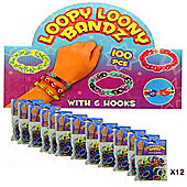 Loopy Loony Bandz Bracelet Maker (12 Packs) 1200 Pieces