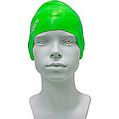 Speedo Junior Plain Moulded Silicone Swimming Cap - Green