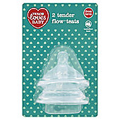 TESCO LOVES BABY TENDER FLOW TEATS VARI FLOW x2