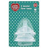 TESCO LOVES BABY TENDER FLOW TEATS VARI FLOW x2