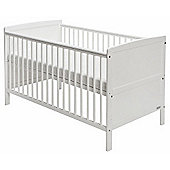 Baby Elegance Travis Cot Bed + Mattress (White)