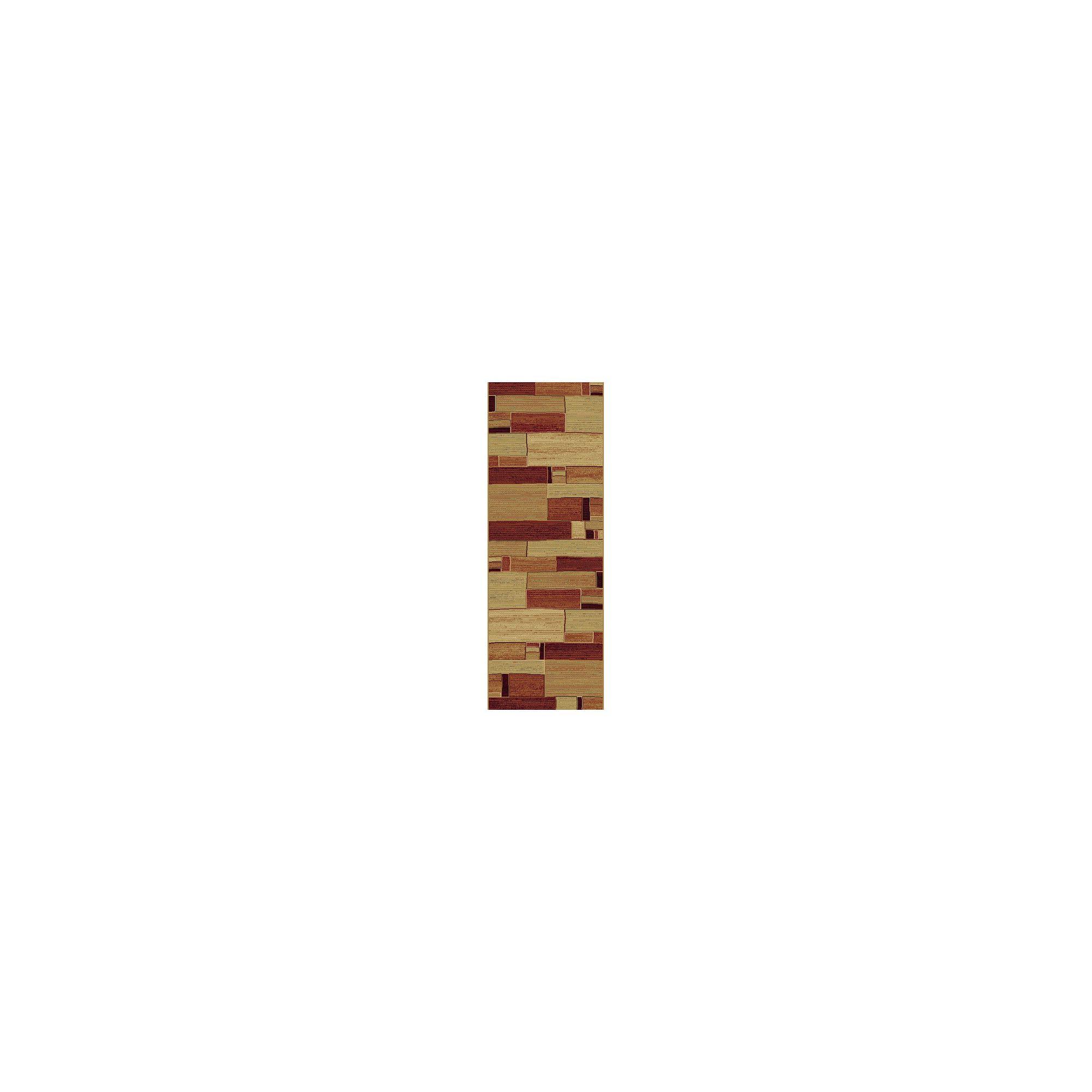 Mastercraft Rugs Galleria Beige Red Block Rug - 200cm x 290cm