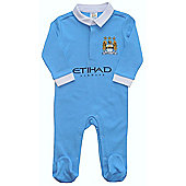 Manchester City Baby Sleepsuit - 2015/16 Season - Blue