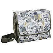 Bebecar Urban Denim Changing Bag (Green Patchwork)