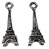 Eiffel Tower Charm - Silver - 2 Pack