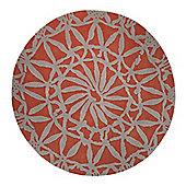 Esprit Oriental Lounge Burnt Orange Tufted Rug - Round 200 cm x 200 cm (6 ft 7 in x 6 ft 7 in)