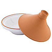 Tesco Tagine Dish Terracotta, White