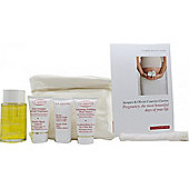 Clarins Pregnancy Kit Gift Set 30ml Smoothing Body Scrub + 15ml Beauty Flash Balm + 30ml Stretch Mark Control + 100ml Body Treatment Oil + Blanket +