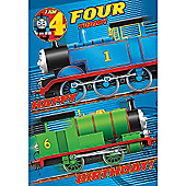 Thomas the Tank Engine 4th Birthday Card