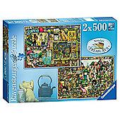 Ravensburger Nostalgic Treasures 2x 500-Piece Jigsaw Puzzles
